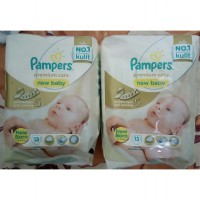 Pampers Premium Care New Baby Taped NB 13