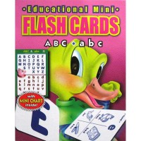[HelloPandaBooks] Flash Cards ABC & abc with Mini Chart Inside! (Contains 32 Cards)