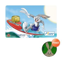 BCA Flazz Bugs Bunny Summer Edition + Free Merchandise