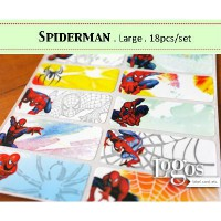 Spiderman LARGE Label nama waterproof. Sticker movie marvel amazing