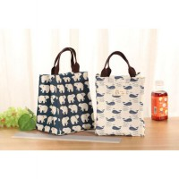 Lunch bag Cooler Bag Gambar Free 2pcs jelly ice cooler ( Tas Bekal )