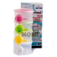 Pumpee Stylist Milk Dispenser 4 Cups - Tempat Susu Formula Putih