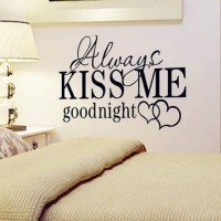 [globalbuy] HotAlways Kiss Me Goodnight Wall Sticker Quote Decal Removable Sticker bedroom/4626178