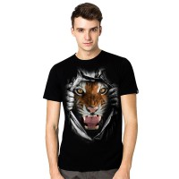 KAOS 3D Tiger Super Hitam