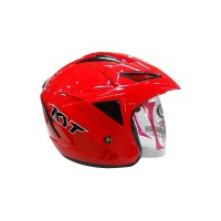 KYT Scorpion King Helm Half Face - Merah Size M