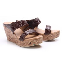 Dr.Kevin Women Wedges Sandals 27348 Maroon
