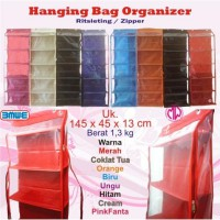 Rak tas gantung resleting HBOZ HBO Hanging Bag Organizer zipper sleting retsleting