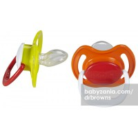 Dr. Browns Perform Pacifier 6-18m - Yellow Green
