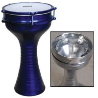 DARBUKA WITH ZIL FIRED FINISH BLUE 20,5 cm