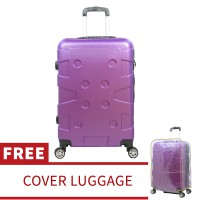 Tas Koper Polo Maple Fiber ABS Original B10 Violet 24' Free Cover Luggage