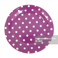 Lil Dot - Paper Dot Plate Dark Purple 12pcs