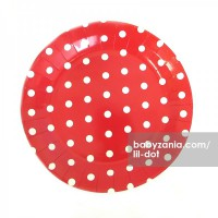 Lil Dot - Paper Dot Plate Red 12pcs