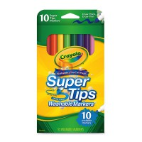 CRAYOLA 10ct Washable Super Tips 588610