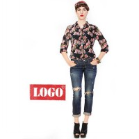 Logo Jeans - Rossy Black Long Sleeves Shirt,comfort material, soft chiffon print fabric, loose fitted, exclusive design