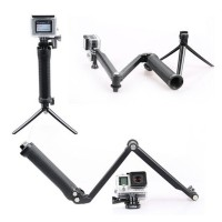 Action Camera 3-Way Monopod 3 Way For Gopro And Sjcam Sj4000/Sj5000/M10 Brica Kogan Xiaomi Yi
