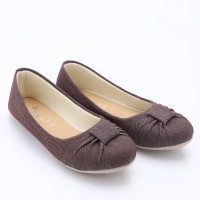 Dr.Kevin Denim Flats Shoes 4378 Brown