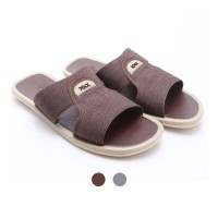 [FREE ONGKIR*] Dr.Kevin Canvas Sandals 17122 Brown, Grey