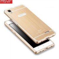 [Free Tempered Glass] MSVII Luxury Bumper Acrylic Cover Metal Case - Oppo R7 / R7 Lite