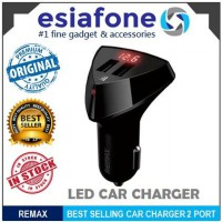 [esiafone # 1 fast charger] REMAX ALIENS Dual USB Ports Car Charger 3.4A With LED (Original)