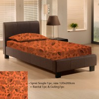 Seprei Single Bunga Orange 120x200cm