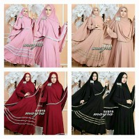 BAJU MUSLIM AYANA SYARI BUSUI JERSEY PLUS BERGO NO PAD FIT TO XL