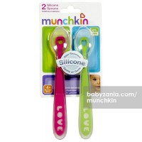 Munchkin Silicone Spoons 2 Packs - Girls (Color May Vary)
