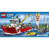 [macyskorea] LEGO Toys City Fire LEGO 412 PCS Fire Boat Brick Box Building Toys/13413890