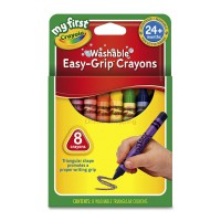 CRAYOLA 8ct My First Washable Easy-Grip Triangular Crayons 811308