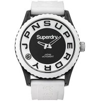 [poledit] Superdry SYG145W Mens Tokyo White Silicone Strap Watch (T1)/12588530
