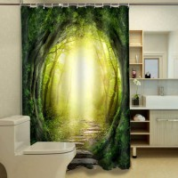 [globalbuy] Dream Jungle personalized printing waterproof shower curtain,curtain for the b/4437796