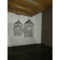 Wine Glass Hanger Rack 2 Row ( Rak Gelas Wine Gantung 2 baris )