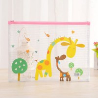 PF17 Korean Lovely Animal PVC Transparant Stationery A5 File Folder