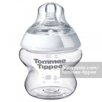 Tommee Tippee Closer to Nature 150ml Bottles (1-pack) with Nature Slow Flow Teat 0m+