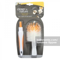 Tommee Tippee 2 in 1 Bottle and Teat Brush