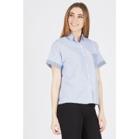 VL Short Sleeve Shirt with Square Pocket Navy