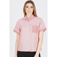 VL Short Sleeve Shirt with Square Pocket Red