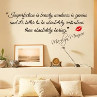 [globalbuy] Impersonation Is Beauty Quotes Marilyn Monroe Art Wall Stickers Removable Livi/4420335