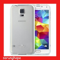 Mercury Jelly Clear Anti Yellow Case for Samsung Galaxy S5 - Transparan