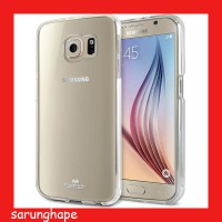 Mercury Jelly Clear Anti Yellow Case for Samsung Galaxy S6 - Transparan