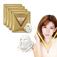 (10pcs) BIOAQUA V-Shaped Sheet Mask Golden Gold Anti-Pipi Chubby
