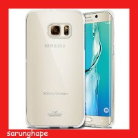 Mercury Jelly Clear Anti Yellow Case for Samsung Galaxy S6 Edge+ Plus - Transparan