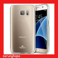 Mercury Jelly Clear Anti Yellow Case for Samsung Galaxy S7 - Transparan