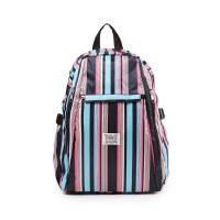 London Berry by HUER - Yaomi Backpack Large Stripes Color