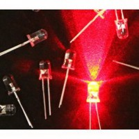 LED DIP 5.0mm RED Round Clear 10000 mCd Ultra Bright Led Pack 100pcs