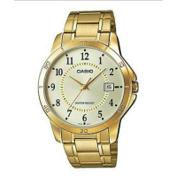 CASIO STANDARD / JAM TANGAN PRIA / GOLD / STRAP STAINLESS STEEL / MTP-V004G-9B
