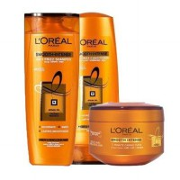 Loreal Smooth Intense Caring Shampoo 330ml + Conditioner 330ml + Mask 200ml