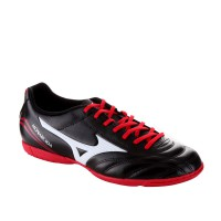 SEPATU FUTSAL MIZUNO MONARCIDA FS IN (WIDE) - BLACK/WHITE/RED P1GF152396