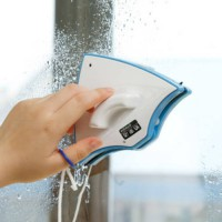 [globalbuy] 10.5*13.5cm 250g Plastic+Magnet Double Faced Glass Cleaning Window Cleaner Too/1717487