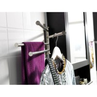 IKEA (R) - GRUNDTAL Towel Holder 4 bars, stainless steel (45cm), Gantungan handuk