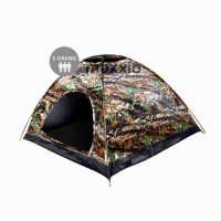 Kovar Tenda Camping 3 Orang 200cm X 120cm Double-Layer Door - Motif Army Loreng